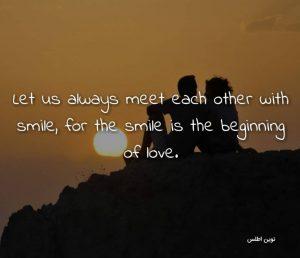 عکس نوشته پروفایل انگلیسی زیبا با ترجمه فارسی درباره عشق و لبخند