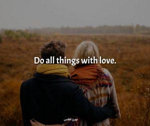 عکس نوشته پروفایل انگلیسی درباره عشق