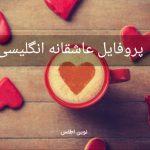 پروفایل عاشقانه انگلیسی زیبا با ترجمه فارسی